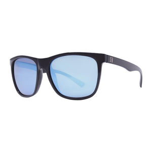 Rove Polarized Sunglasses - Strand - Gloss Black/Smoke/Blue Mirrored