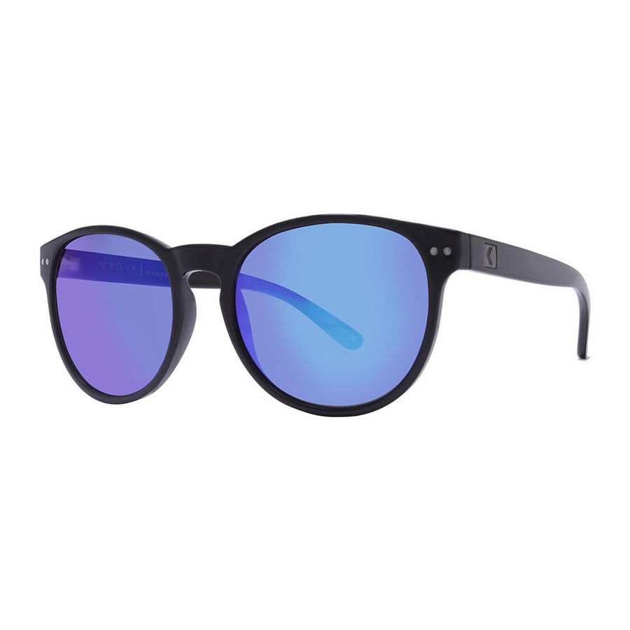 Rove Polarized Sunglasses - Nomad - Gloss Black/Smoke/Blue Mirrored
