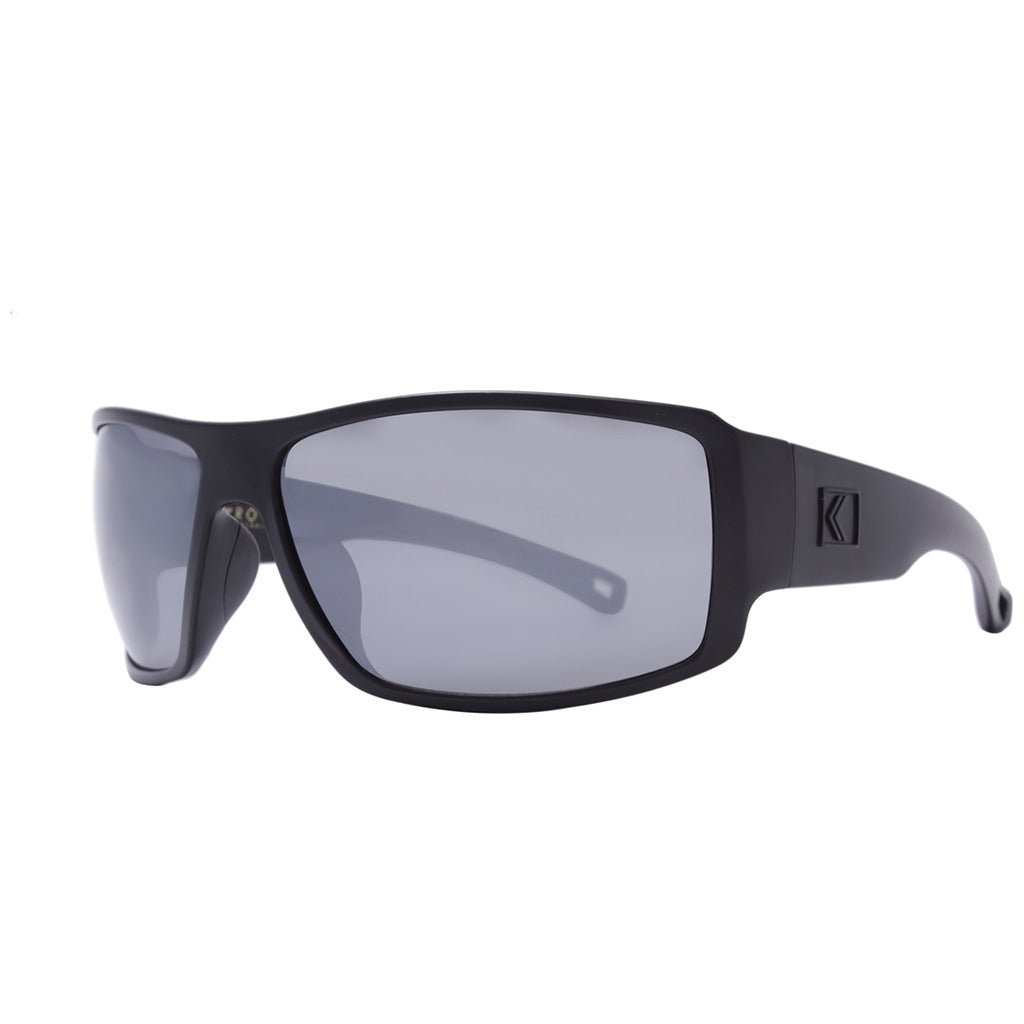 Rove Polarized Sunglasses - Captain - Matte Black/Smoke/Silver Mirrored - Seaside Surf Shop