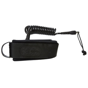 Creatures Coiled Ryan Hardy Bicep Strap Large Leash - Black/Black-Creatures of Leisure-Seaside Surf Shop