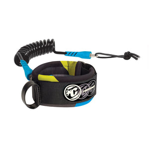 Creatures Coiled Ryan Hardy Bicep XLG Strap Leash - Black/Cyan-Creatures of Leisure-Seaside Surf Shop