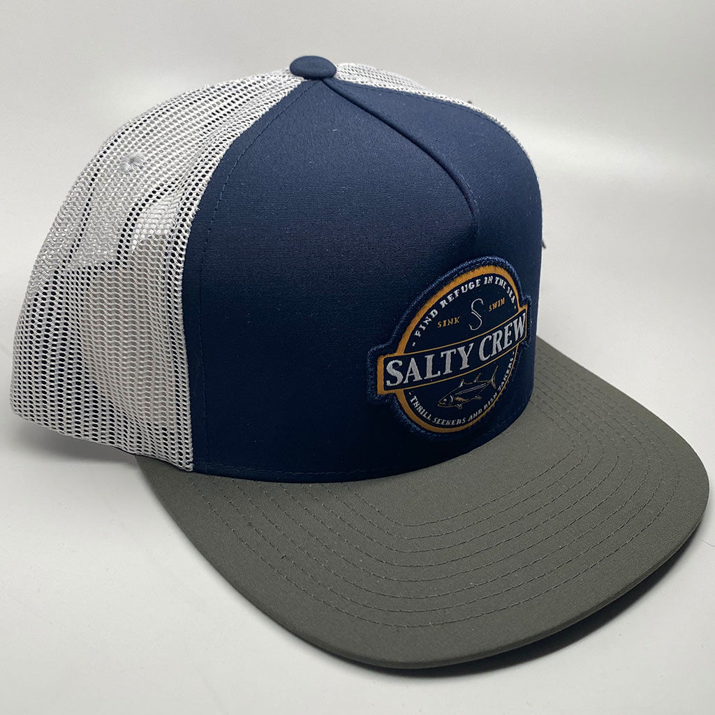 Salty Crew Deep Sea Trucker Cap - Navy/Silver - Seaside Surf Shop