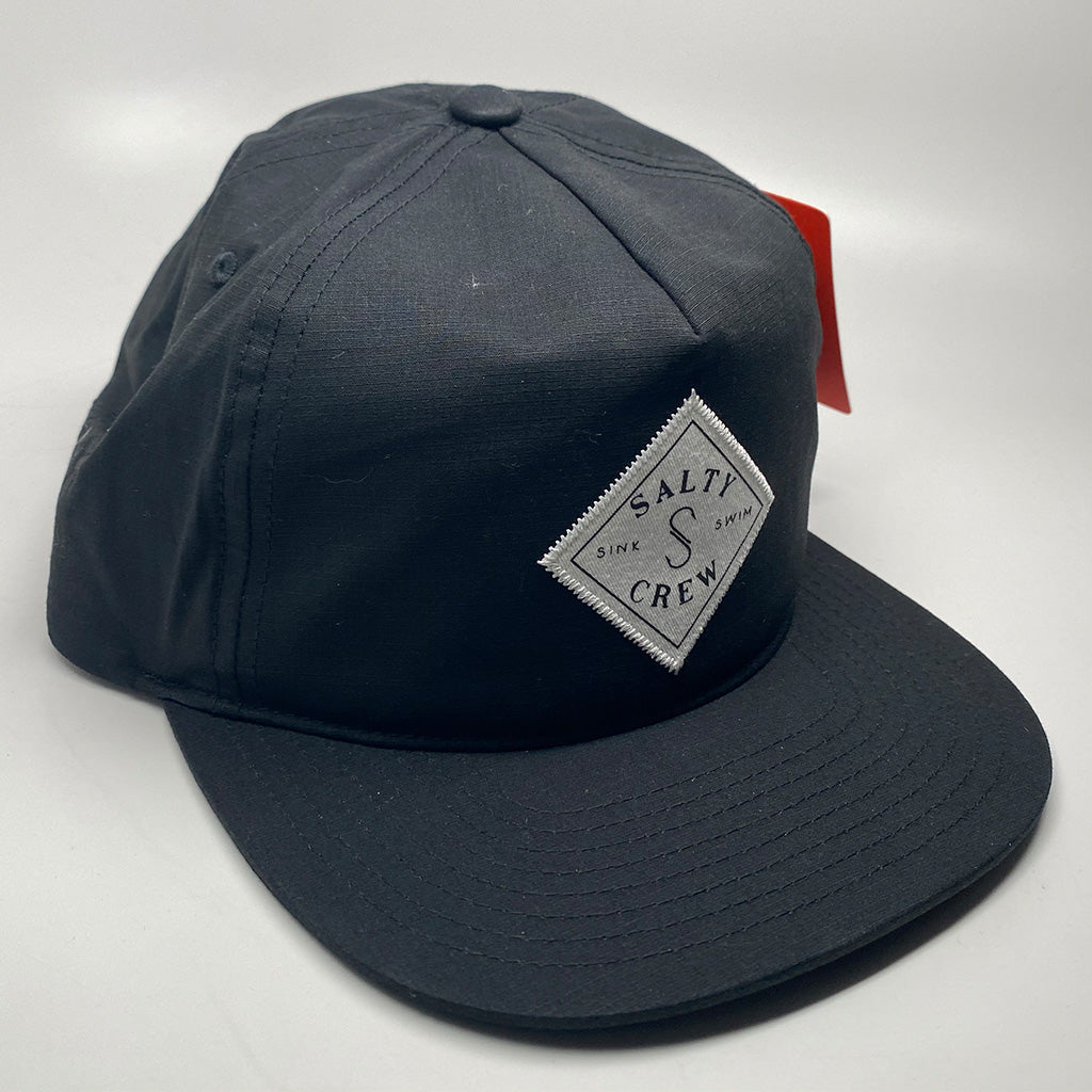 Salty Crew Mainsail 5 Panel Cap - Black - Seaside Surf Shop