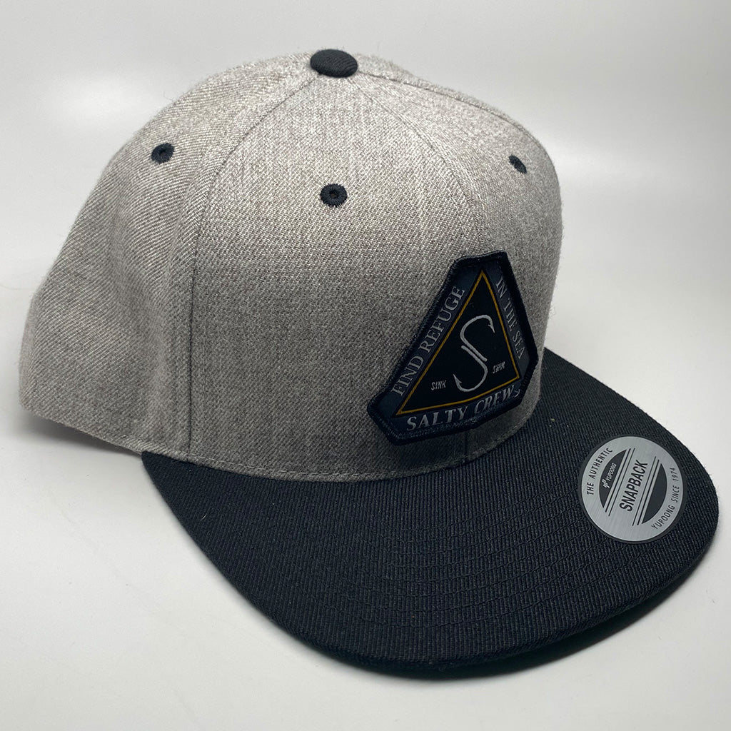Salty Crew Triad 6 Panel Cap - Oatmeal/Black - Seaside Surf Shop