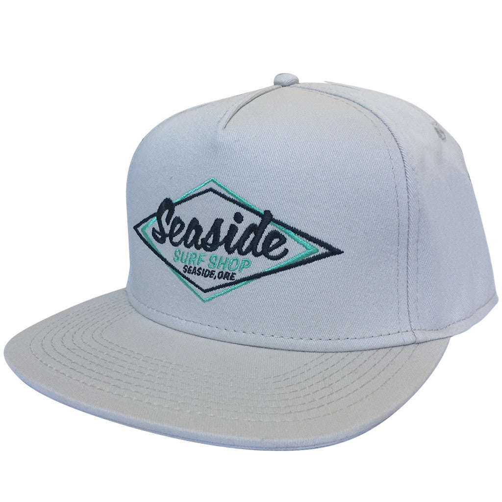 -Apparel Accessories-Seaside Surf Shop Vintage Logo Cap - Sand-Seaside Surf Shop-Seaside Surf Shop