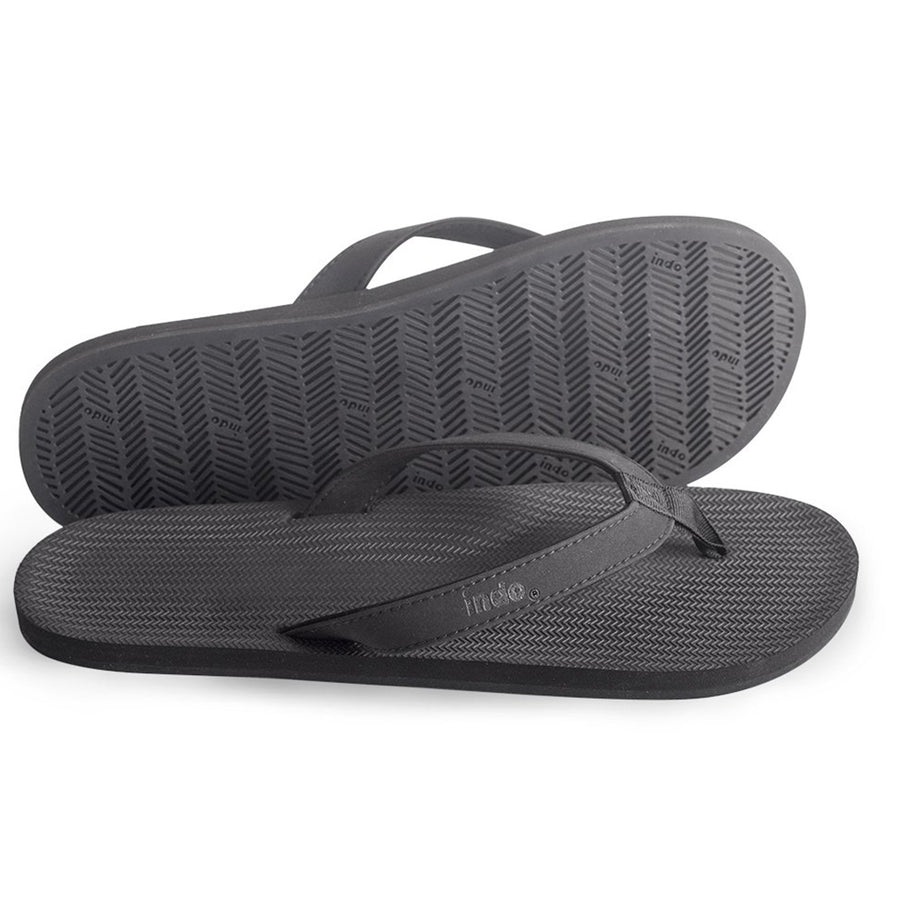 Indosole - Mens ESSNTLS Flip Flops - Black-Indosole-Seaside Surf Shop