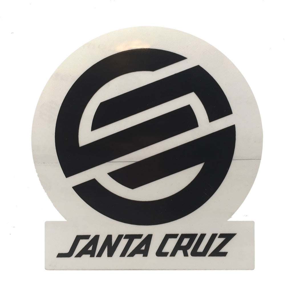"-Misc. Stuff-Santa Cruz Classic Logo 3"" Black-Santa Cruz-Seaside Surf Shop"
