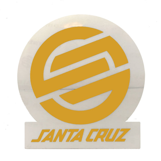 "-Misc. Stuff-Santa Cruz Classic Logo 3"" Yellow-Santa Cruz-Seaside Surf Shop"