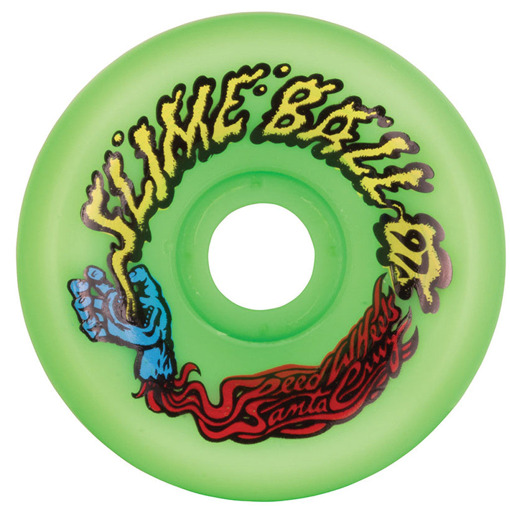 -Skate-Santa Cruz 60mm Slime Balls 97a Wheels - Vomits Neon Green-Santa Cruz-Seaside Surf Shop