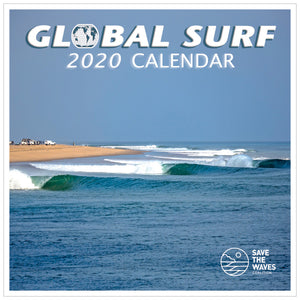 Global Surf 2020 Calendar, Calendars, Surfrider, Calendars, Travel around the Globe and surf some of the most amazing waves in the world. Features eco-facts on each month promoting Save the Waves