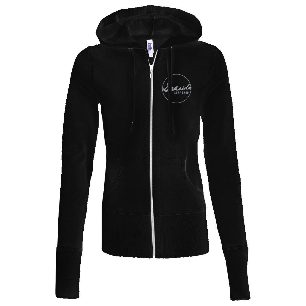 Seaside Surf Shop Womens Script Sea Hoodie - Black