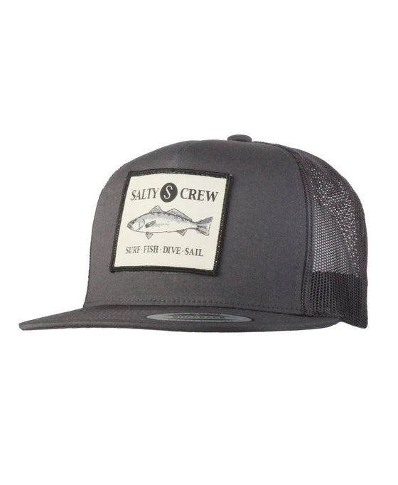 -Apparel Accessories-Salty Crew Mens Seabass Trucker Hat - Charcoal-Salty Crew-Seaside Surf Shop