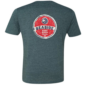 Seaside Surf Shop Mens Wax Label Tee - Indigo