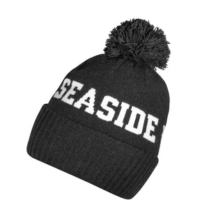 Seaside Surf Shop Pom Beanie - Black-Seaside Surf Shop-Seaside Surf Shop