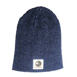 Seaside Surf Shop Wave Logo  Beanie - Heather Royal