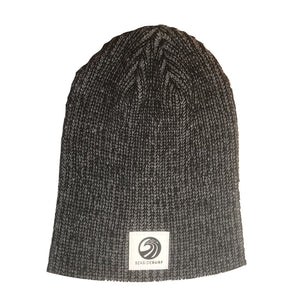Seaside Surf Shop Wave Logo Beanie - Heather Black, Apparel Accessories, Seaside Surf Shop, Beanies, Seaside Surf custom beanie made with tight knit acrylic. As staple as it gets with our triple S wave logo patch.