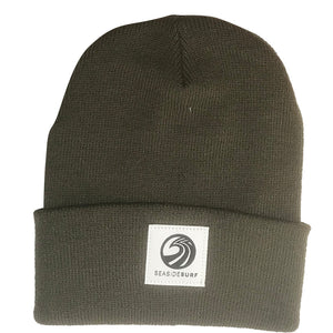 Seaside Surf Shop Wave Logo Beanie - Loden, Apparel Accessories, Seaside Surf Shop, Beanies, Seaside Surf custom beanie made with tight knit acrylic. As staple as it gets with our triple S wave logo patch.
