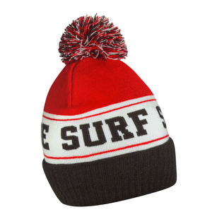 Seaside Surf Shop Pom Beanie - Red-Seaside Surf Shop-Seaside Surf Shop