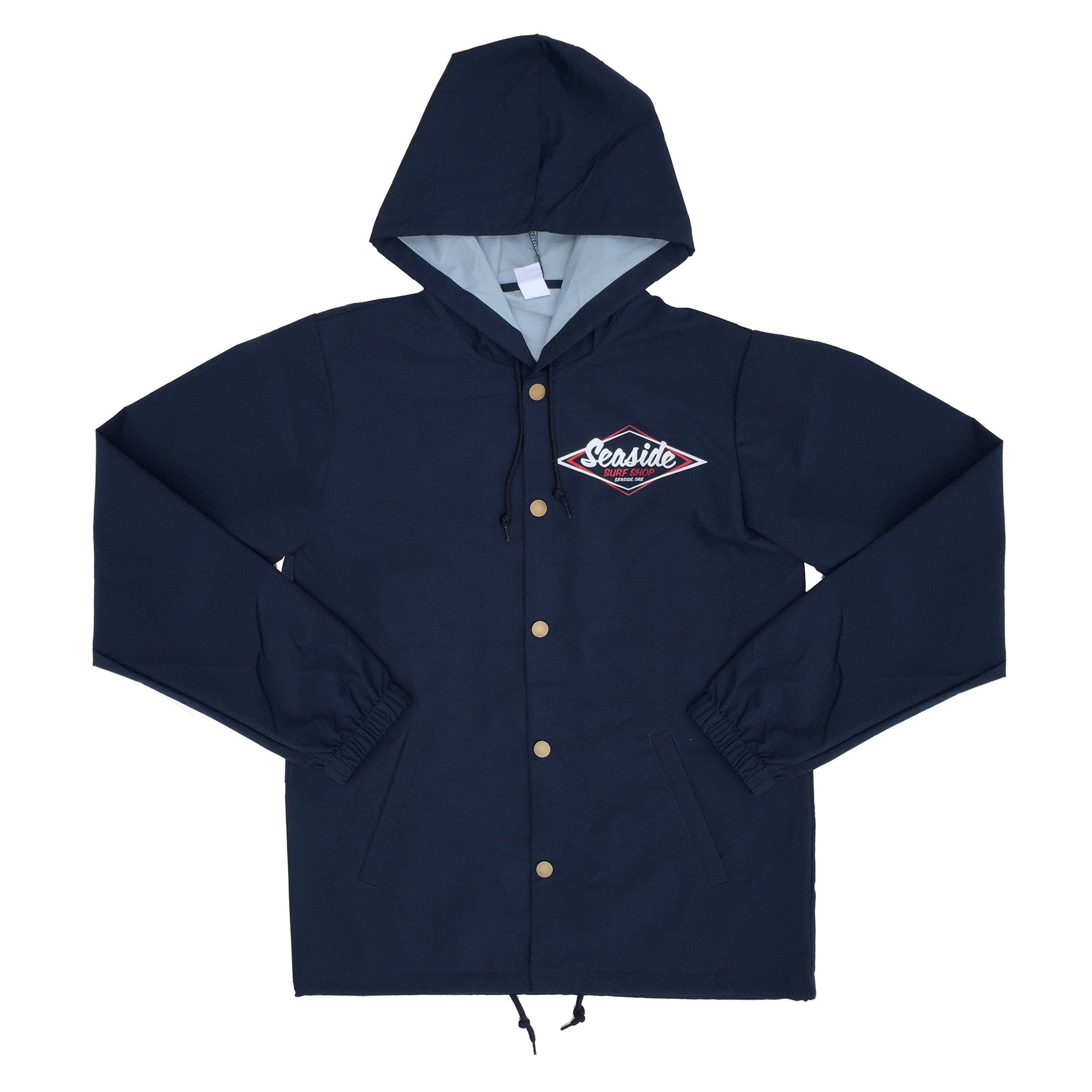 092cc70d933f Seaside Surf Shop Mens Vintage Logo Coaches Jacket - Navy-Seaside Surf  Shop-Seaside