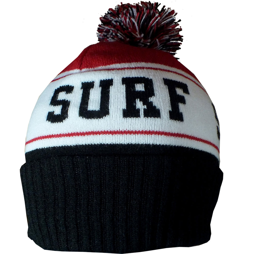 Seaside Surf Shop Pom Beanie - Red - Seaside Surf Shop
