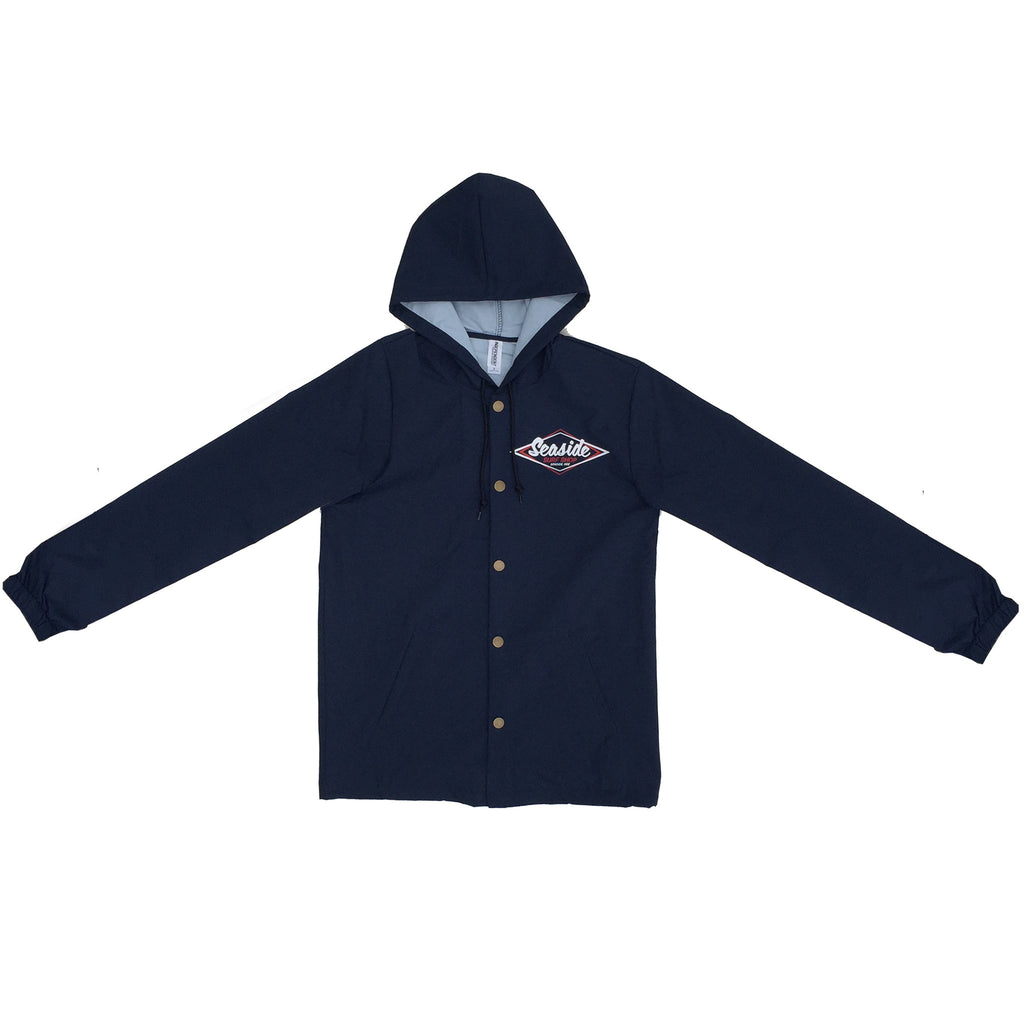Seaside Surf Shop Mens Vintage Logo Coaches Jacket - Navy - Seaside Surf Shop