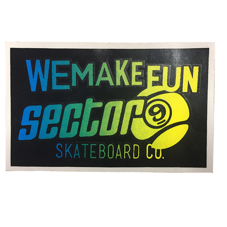 "-Stickers-Sector 9 Square Fade 4x2.5"" - Blue/Yellow-Sector 9-Seaside Surf Shop"