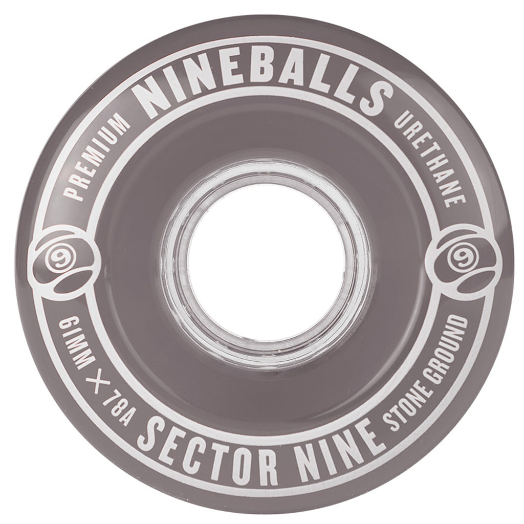 Sector 9 61mm 78A Nineballs Wheel Set - Smoke - Seaside Surf Shop