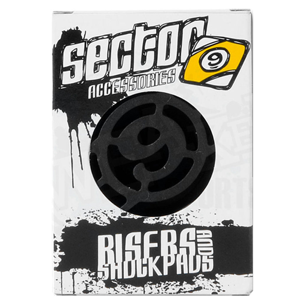 "Sector 9 Skateboard 1/2"" Shock Pad Risers  - Black - Seaside Surf Shop"