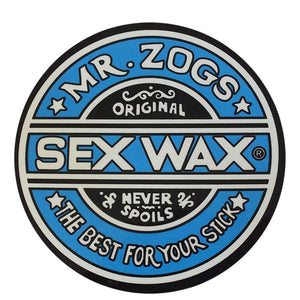 "Sex Wax Classic Logo Stickers - 3"" Blue-Zogs Sex Wax-Seaside Surf Shop"