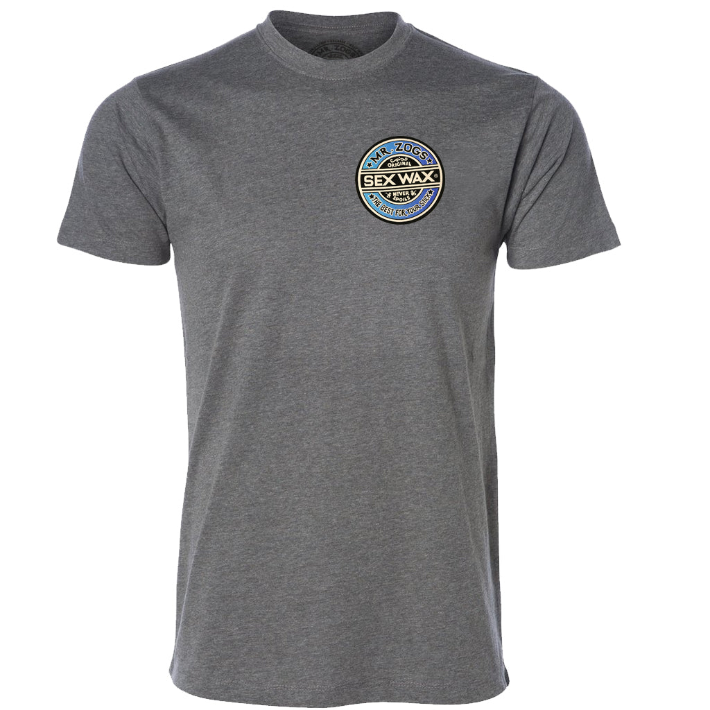 Mr. Zog's Sex Wax Mens Fade Tee - Graphite Heather - Seaside Surf Shop