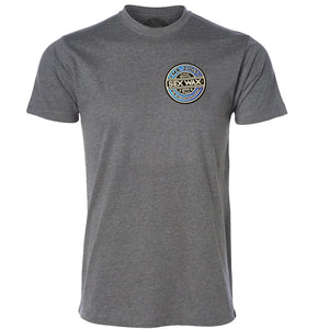 Sex Wax Mens Fade Tee - Graphite Heather