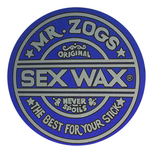 "-Stickers-Sex Wax Classic Logo Stickers - 7"" Metallic Blue-Zogs Sex Wax-Seaside Surf Shop"