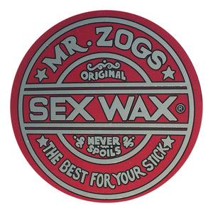 "Sex Wax Classic Logo Stickers - 7"" Metallic Red, Stickers, Zogs Sex Wax, Zogs Sex Wax, Sex Wax Classic Logo Stickers-never too small...for small spaces but big presence. Comes in 7"" Metallic Red."