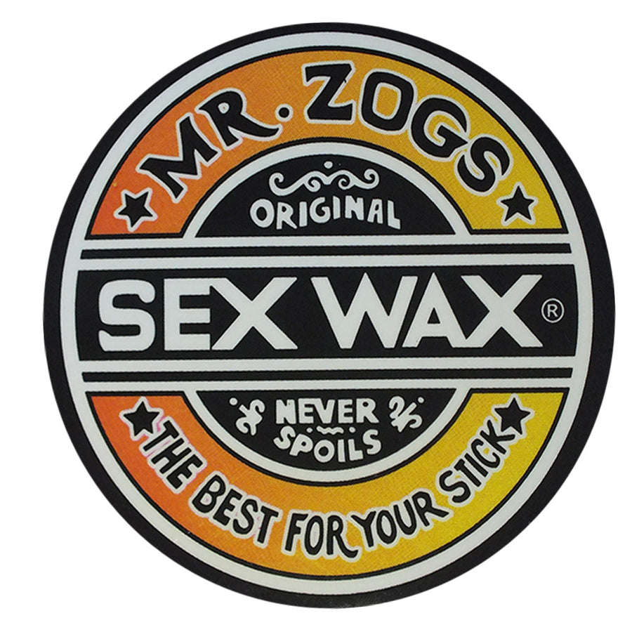 "-Stickers-Sex Wax Classic Logo Stickers - 3"" Orange Fade-Zogs Sex Wax-Seaside Surf Shop"