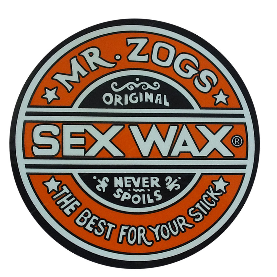 "Sex Wax Classic Logo Stickers - 3"" Orange, Stickers, Zogs Sex Wax, Zogs Sex Wax, Sex Wax Classic Logo Stickers-never too small...for small spaces but big presence. Comes in 3"" Orange."