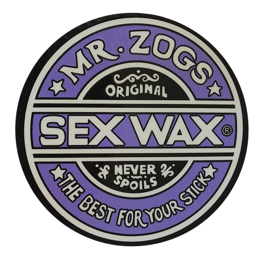 "Sex Wax Classic Logo Stickers - 10"" Purple - Seaside Surf Shop"