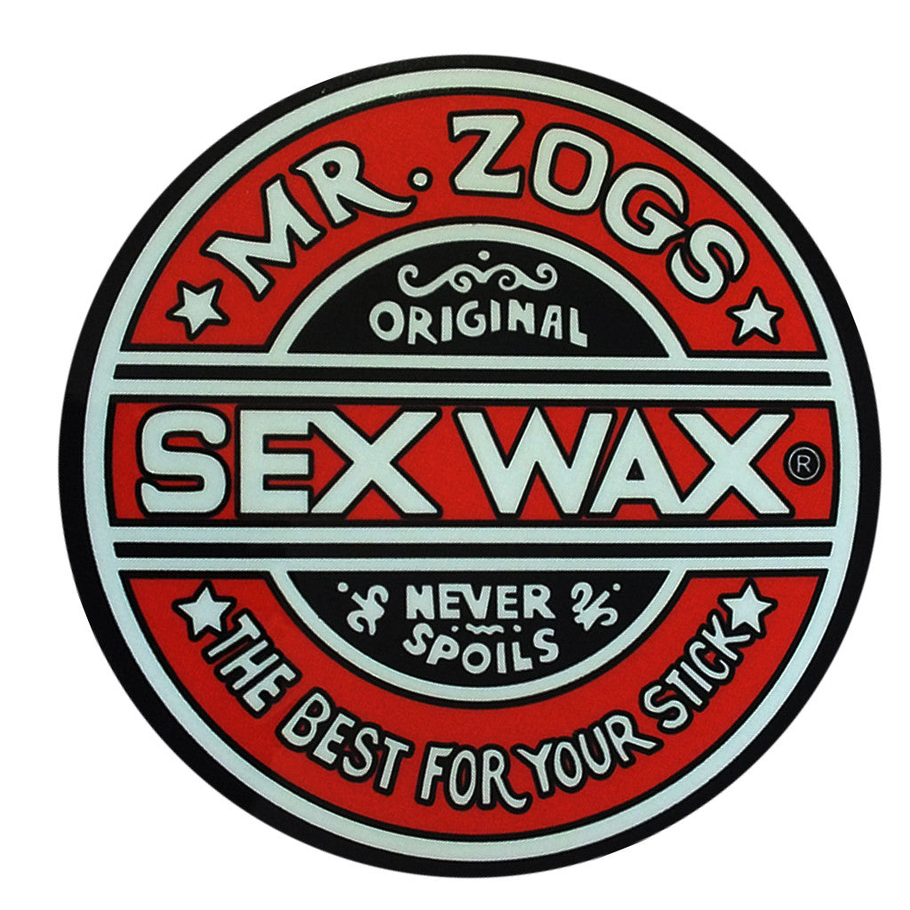 "Sex Wax Classic Logo Stickers - 10"" Red - Seaside Surf Shop"