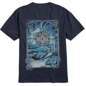 Sex Wax Mens Sunrise Tee - Navy-Zogs Sex Wax-Seaside Surf Shop