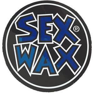 "Sex Wax Circle Die Cut 3"" Stickers - Blue-Zogs Sex Wax-Seaside Surf Shop"