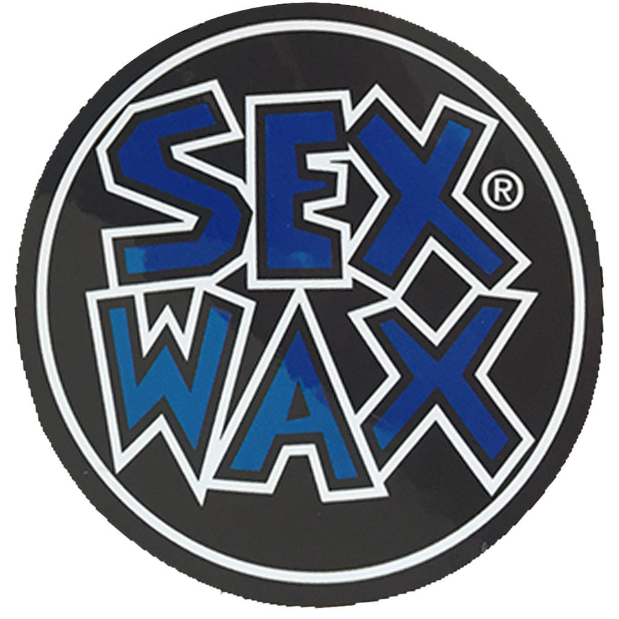 "Sex Wax Circle Die Cut 3"" Stickers - Blue, Stickers, Zogs Sex Wax, Zogs Sex Wax, 3"" of Sex Wax styling screened onto circle for your pleasure."