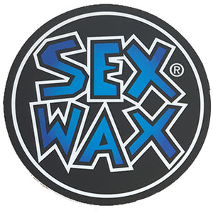 "Sex Wax Circle Die Cut 3"" Stickers - Blue Fade-Zogs Sex Wax-Seaside Surf Shop"