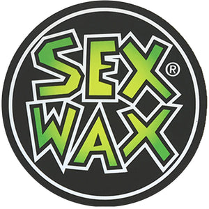 "Sex Wax Circle Die Cut 3"" Stickers - Green Fade, Stickers, Zogs Sex Wax, Zogs Sex Wax, 3"" of Sex Wax styling screened onto circle for your pleasure."