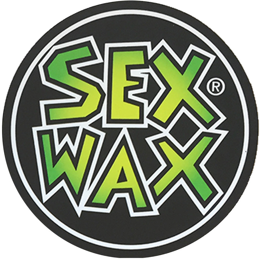 "Sex Wax Circle Die Cut 3"" Stickers - Green Fade-Zogs Sex Wax-Seaside Surf Shop"