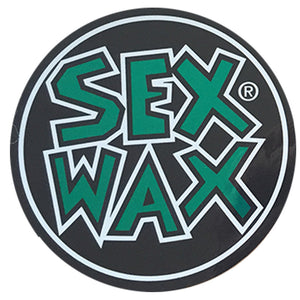 "Sex Wax Circle Die Cut 3"" Stickers - Green-Zogs Sex Wax-Seaside Surf Shop"