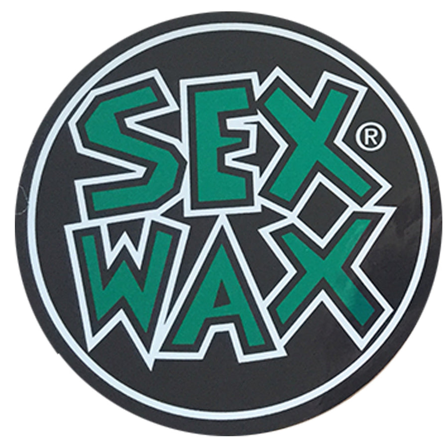 "Sex Wax Circle Die Cut 3"" Stickers - Green, Stickers, Zogs Sex Wax, Zogs Sex Wax, 3"" of Sex Wax styling screened onto circle for your pleasure."