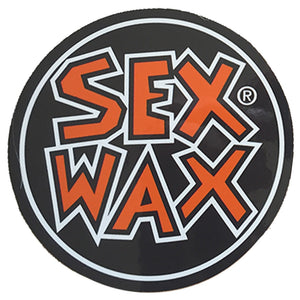 "-Stickers-Sex Wax Circle Die Cut 3"" Stickers - Orange-Zogs Sex Wax-Seaside Surf Shop"