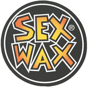 "Sex Wax Circle Die Cut 3"" Stickers - Orange Fade-Zogs Sex Wax-Seaside Surf Shop"