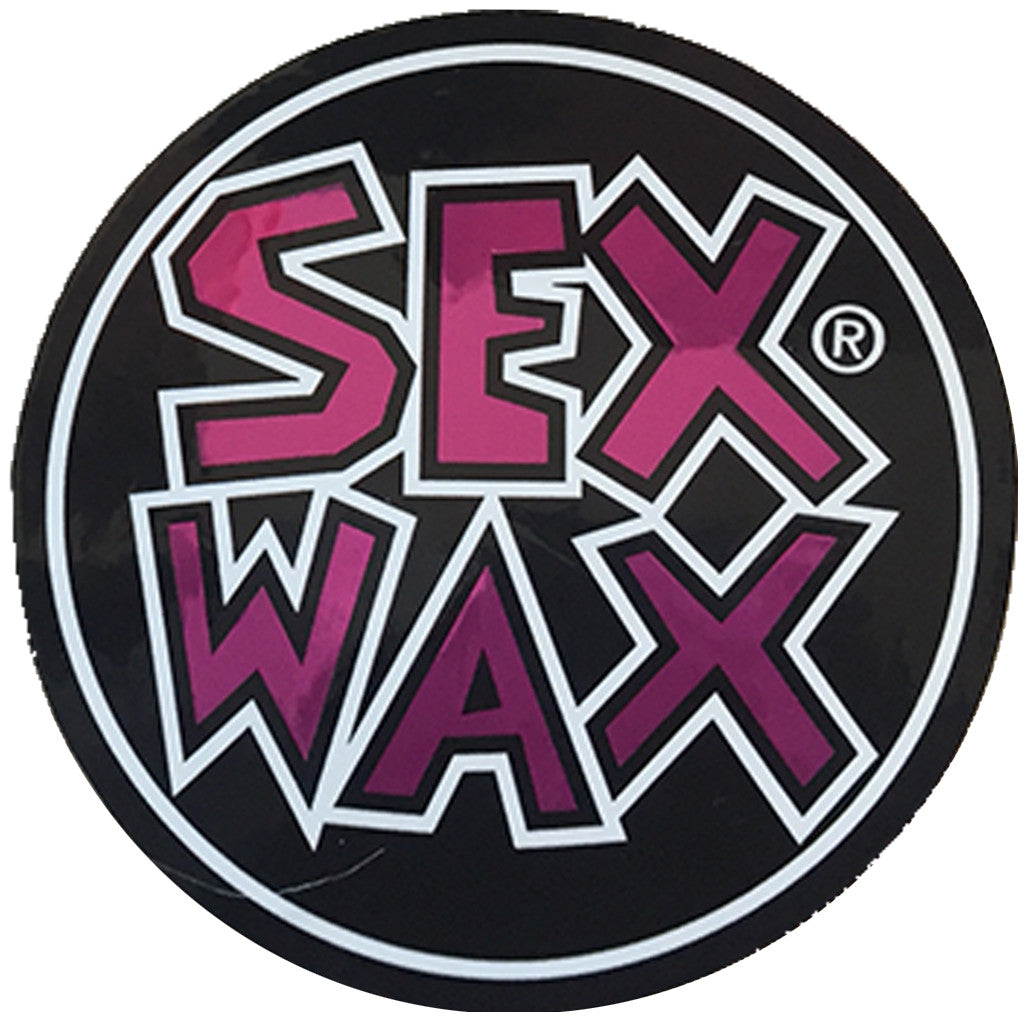 "-Stickers-Sex Wax Circle Die Cut 3"" Stickers - Purple-Zogs Sex Wax-Seaside Surf Shop"