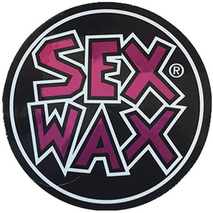 "Sex Wax Circle Die Cut 3"" Stickers - Purple, Stickers, Zogs Sex Wax, Zogs Sex Wax, 3"" of Sex Wax styling screened onto circle for your pleasure."