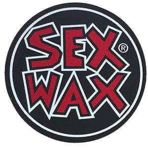 "-Stickers-Sex Wax Circle Die Cut 3"" Stickers - Red-Zogs Sex Wax-Seaside Surf Shop"